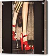 Prada Red Shoes Acrylic Print