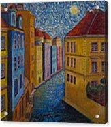 Prague A La Vangogh Acrylic Print