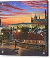 Prague At Dusk Acrylic Print