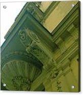 Prague Building In Green Acrylic Print