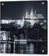 Prague Castle At Night Acrylic Print