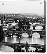 Prague Cityscape Acrylic Print