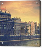 Prague Days Acrylic Print by Taylan Apukovska