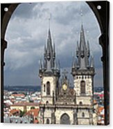 Prague From Town Hall Tower Acrylic Print