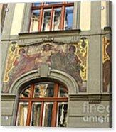 Prague - Mucha Mural Acrylic Print