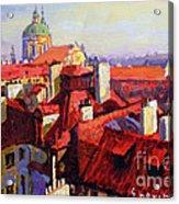 Prague Old Roofs 04 Acrylic Print
