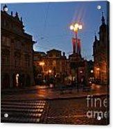 Prague Old Town At Night Acrylic Print