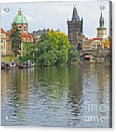 Prague Reflected Acrylic Print