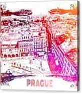Prague Skyline Panorame Acrylic Print