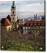 Prague View From The Gardens Acrylic Print