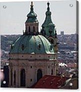 Prague With Pink Acrylic Print
