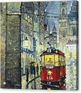 Praha Red Tram Mostecka Str  Acrylic Print