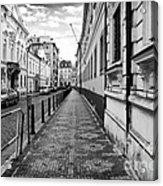 Praha Sidewalk  Acrylic Print