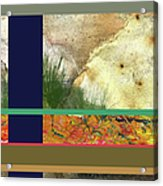 Prairie Grasses Amid The Rocks Acrylic Print