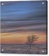 Prairie Sunset North Dakota 2 Acrylic Print