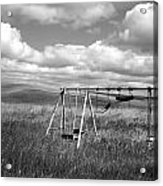 Prairie Swing Set Acrylic Print