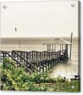 Prange Street Pier Raining Acrylic Print