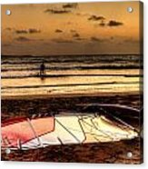 Prasonisi - A Day Of Windsurfing Is Over Acrylic Print