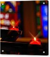 Prayer Candles Trinity Cathedral Pittsburgh Acrylic Print