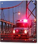 Prayer For Emergency Health Care First Responders Acrylic Print