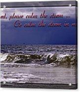 Prayer In Storm Acrylic Print