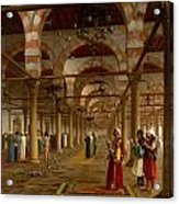 Prayer In The Mosque Acrylic Print by Jean-Leon Gerome