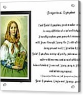 Prayer To St. Dymphna Acrylic Print