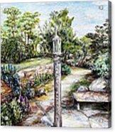 Prayer Wheel At Pacifica's Lambert Campus- Postcard Acrylic Print