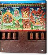 Prayer Wheels And Paintings Acrylic Print
