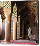 Prayers In Nasir Al-mulk Mosque Acrylic Print
