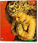 Praying Angel Acrylic Print by Susanne Van Hulst