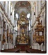 Praying At Munich Church Germany Acrylic Print