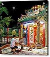 Praying At The Shrine. Acrylic Print