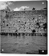 Praying At The Western Wall Acrylic Print