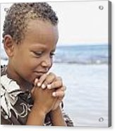 Praying Boy Acrylic Print