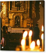 Praying By Candlelight Acrylic Print