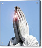 Praying Hands Lens Flare Acrylic Print