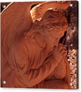 Praying Male Angel Near Infrared  Acrylic Print
