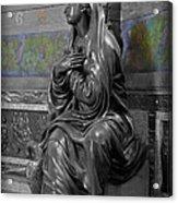 Praying Statue In Chantilly Acrylic Print