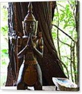 Praying Statue - Panviman Chiang Mai Spa And Resort - Chiang Mai Thailand - 01131 Acrylic Print by DC Photographer