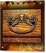 Pre-civil War Bookcase-drawer Pull Acrylic Print