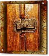 Pre-civil War Bookcase-glass Doors Latch Acrylic Print