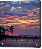 Pre-dawn Colors On Santa Rosa Sound Acrylic Print