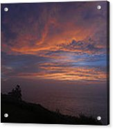 Pre Dawn Lighthouse Sentinal Acrylic Print