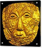 Pre-inca Gold Mask Acrylic Print