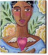 Precious Heart by Elaine Jackson Acrylic Print