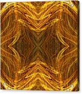 Precious Metal 3 Ocean Waves Dark Gold Acrylic Print by Andee Design