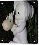 Precious Moments Baby Christmas Ornament Acrylic Print