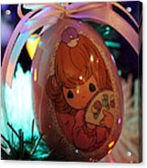 Precious Moments Christmas Ornament Acrylic Print