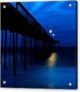 Predawn Blue Beneath Pier Acrylic Print